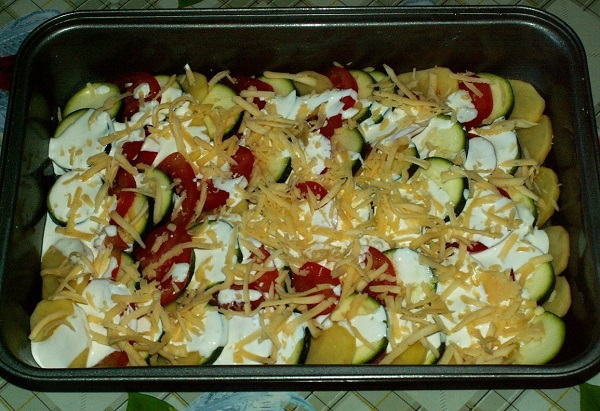 Запеканка из кабачков в духовке с сыром