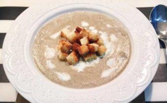 Суп-пюре из шампиньонов со сливками: рецепт с фото