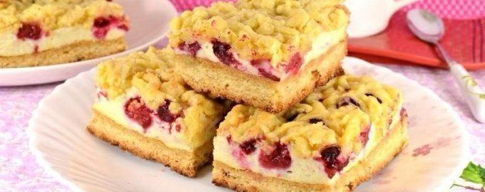 Песочный пирог с ягодами: пошаговый рецепт с фото в духовке