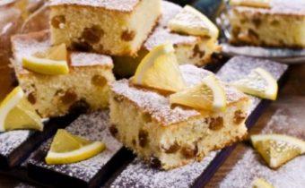 Лимонный кекс с изюмом и цукатами: пошаговый рецепт с фото