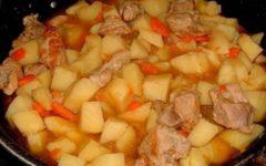 Курица с картошкой в казане на плите: простой рецепт