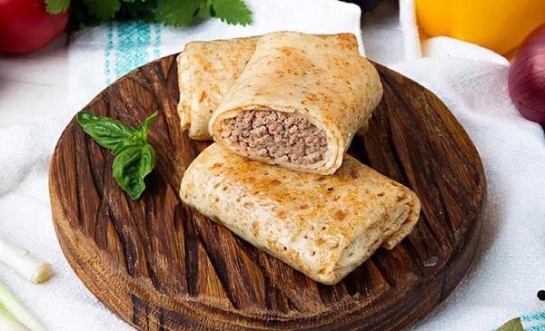 Мясная начинка для тонких блинов из отварного мяса