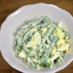 Салат из зеленой фасоли с яйцом