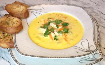 Сырный суп с курицей: рецепт с плавленым сыром