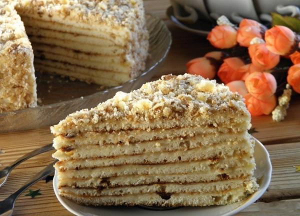 Быстрый торт на сковороде со