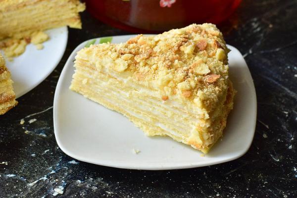 Торт «Наполеон» в домашних условиях: рецепт с фото пошагово